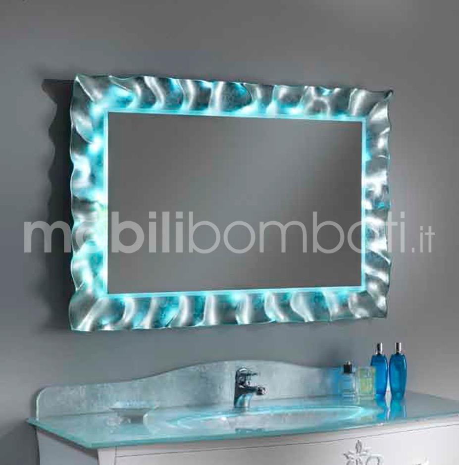 Specchio Con Led Incorporato.Specchio In Cristallo Fuso Con Led