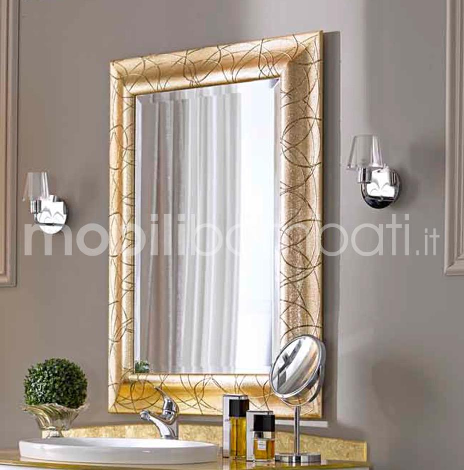 Specchio sagomato in cristallo fuso le originali solo su for Specchiera barocca