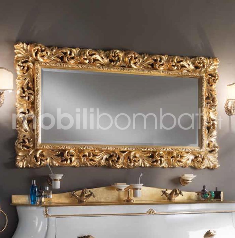 Specchiera stile barocco in foglia d 39 oro gli originali solo su - Specchio cornice nera barocca ...