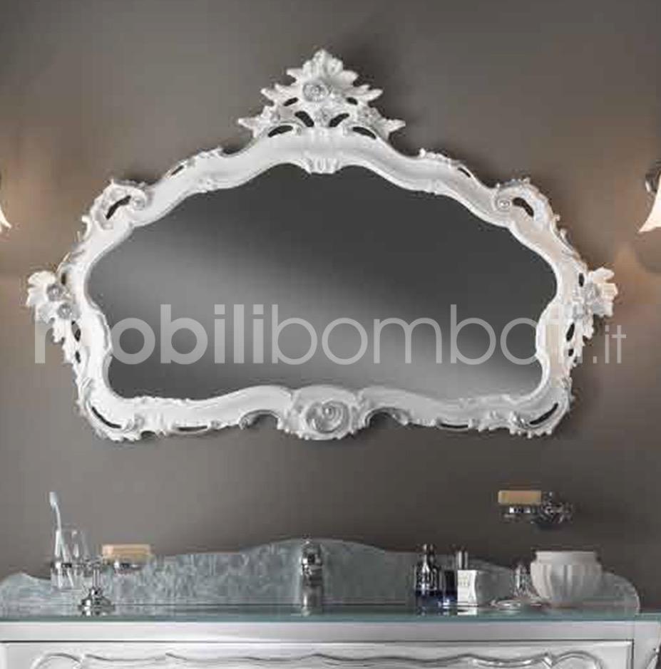 Specchiera cornice barocca decorata le originali solo su - Specchio cornice nera barocca ...