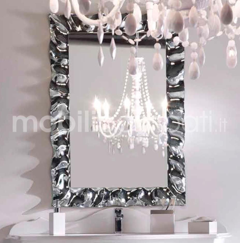 Specchio bagni moderni in cristallo fuso le originali - Specchio cornice nera barocca ...