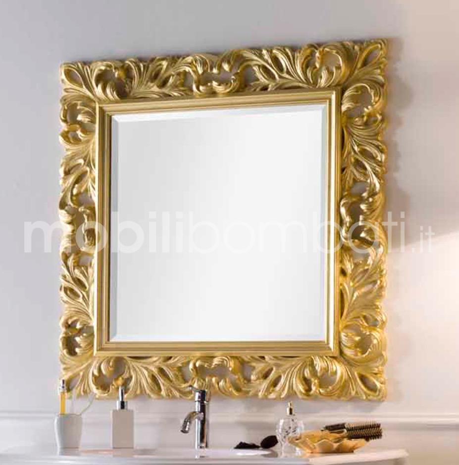 Specchio barocco foglia oro argento solo su - Specchio cornice nera barocca ...