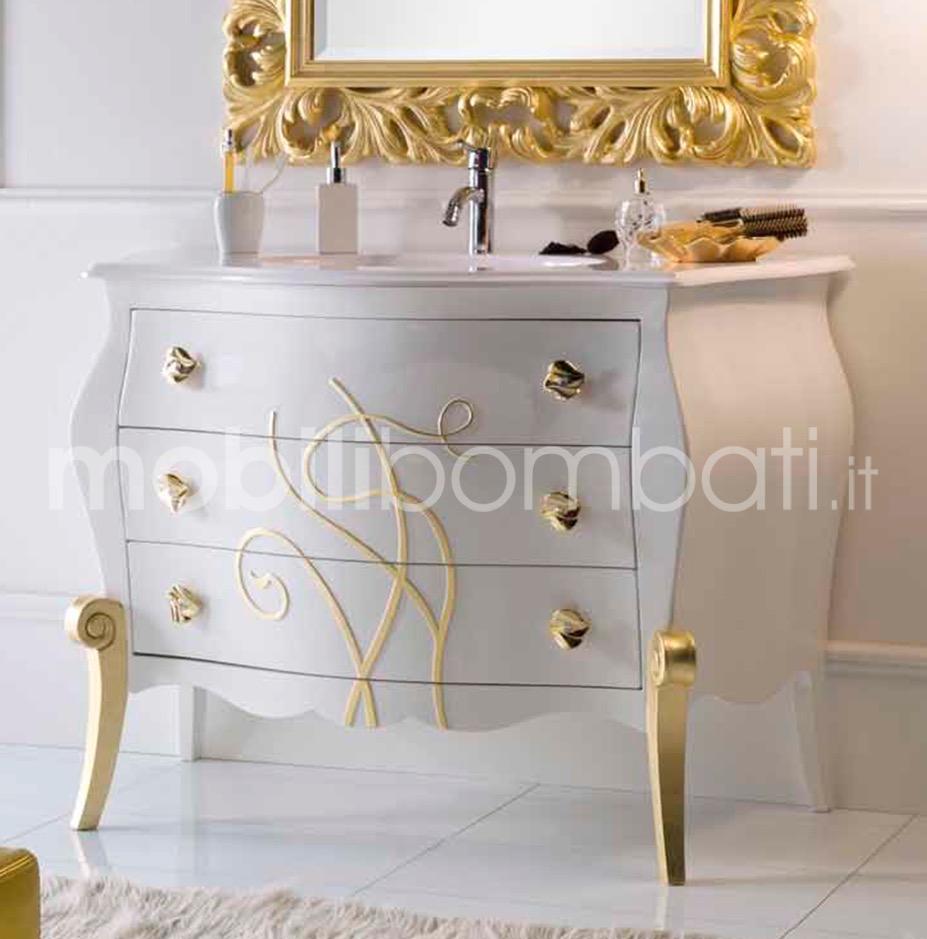 Mobiletti Bagno Stile Barocco con rilievo oro - gli originali su ...
