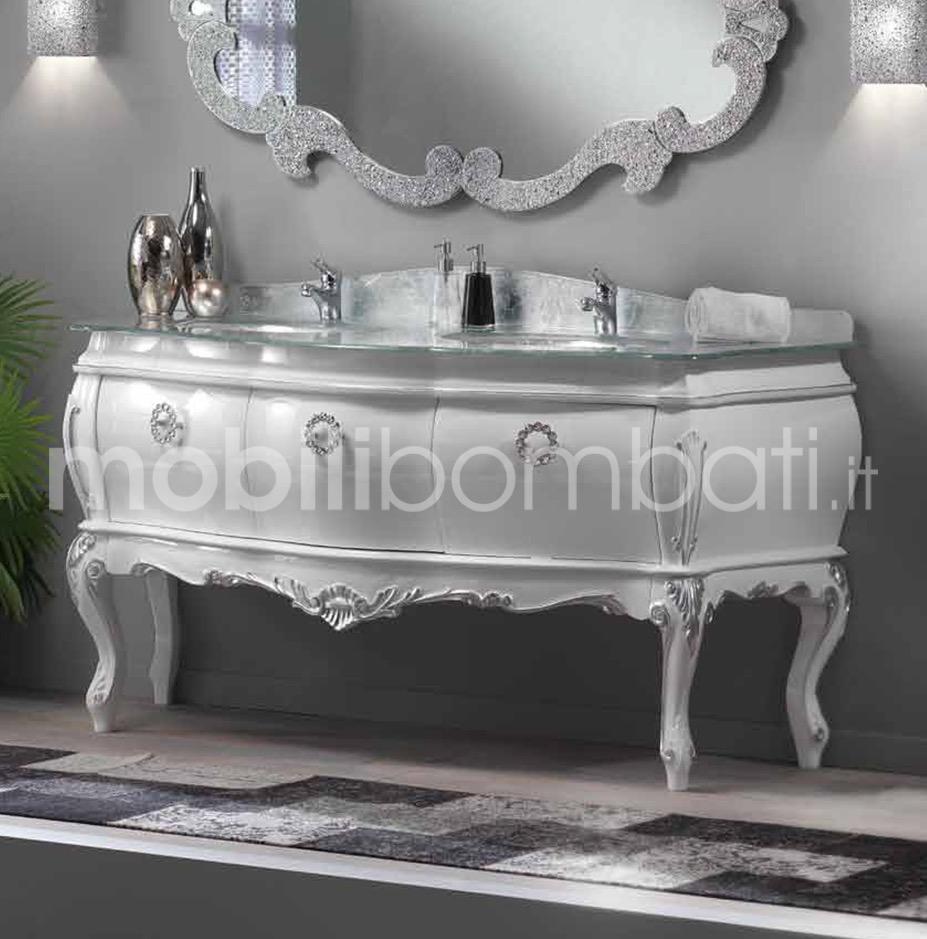 Lavandino Bagno Con Piede mobile bombato bagno con doppio lavabo e 3 cassetti