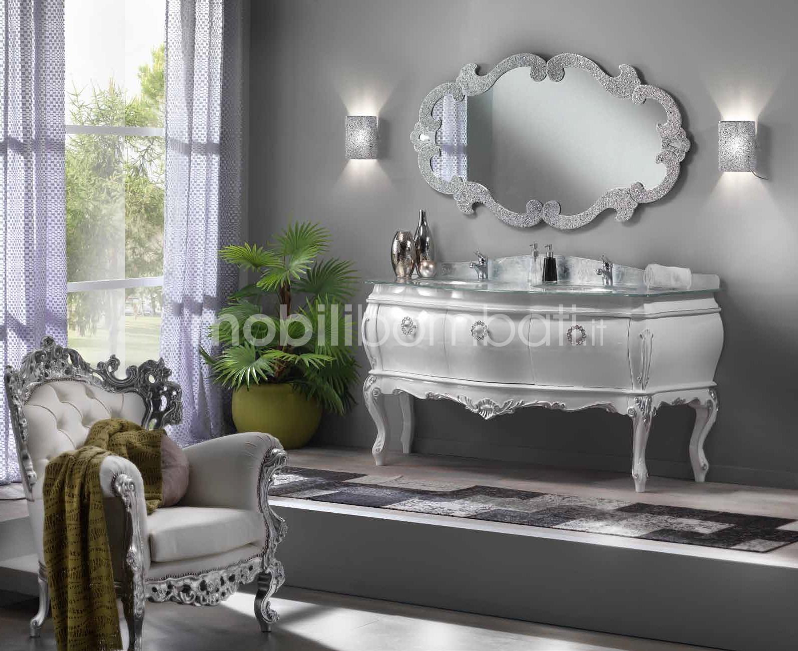 Mobile stile barocco bagno con doppio lavabo gli originali su