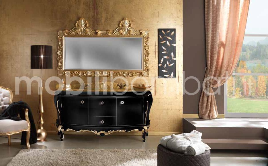 Mobili stile barocco bagno con foglia oro k gli originali su