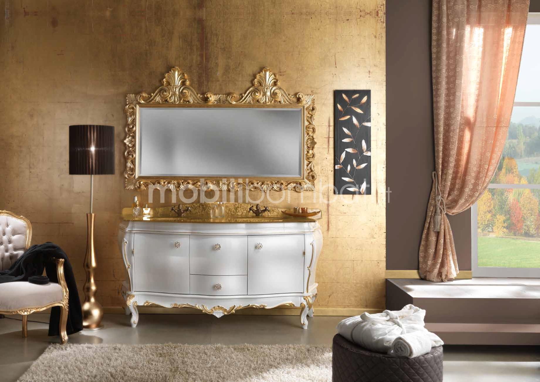 Mobili stile barocco bagno con foglia oro 24k gli originali su
