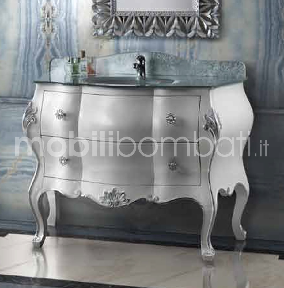 Mobile Barocco Veneziano Bagno in foglia Argento - Gli originali su ...