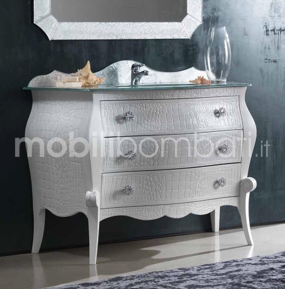 Mobili bagno in stile barocco con piano in cristallo gli originali su - Mobili bagno in stile ...