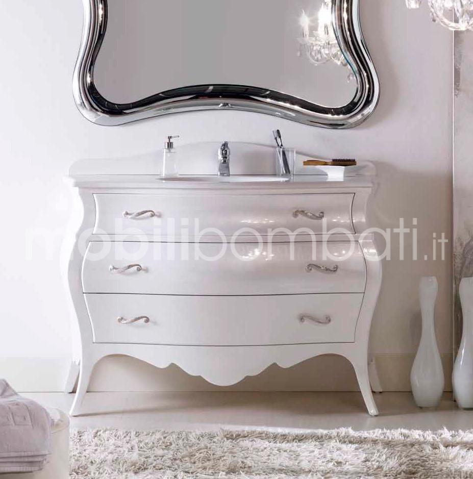 Mobile bombato bagno in stile barocco - Mobile bombato bagno ...