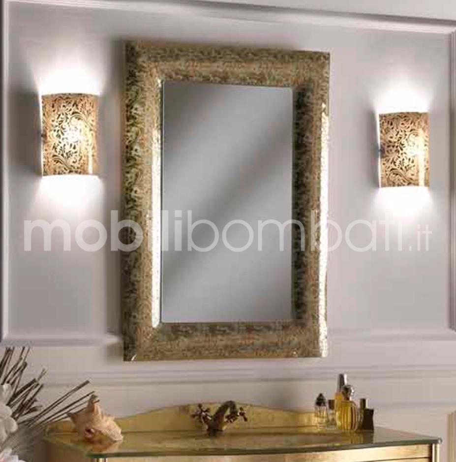 Specchio moderno decorato in cristallo fuso le originali for Specchiera barocca