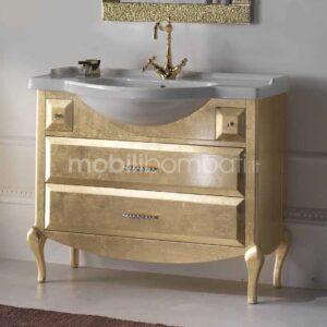 Mobile Bagno Foglia Oro