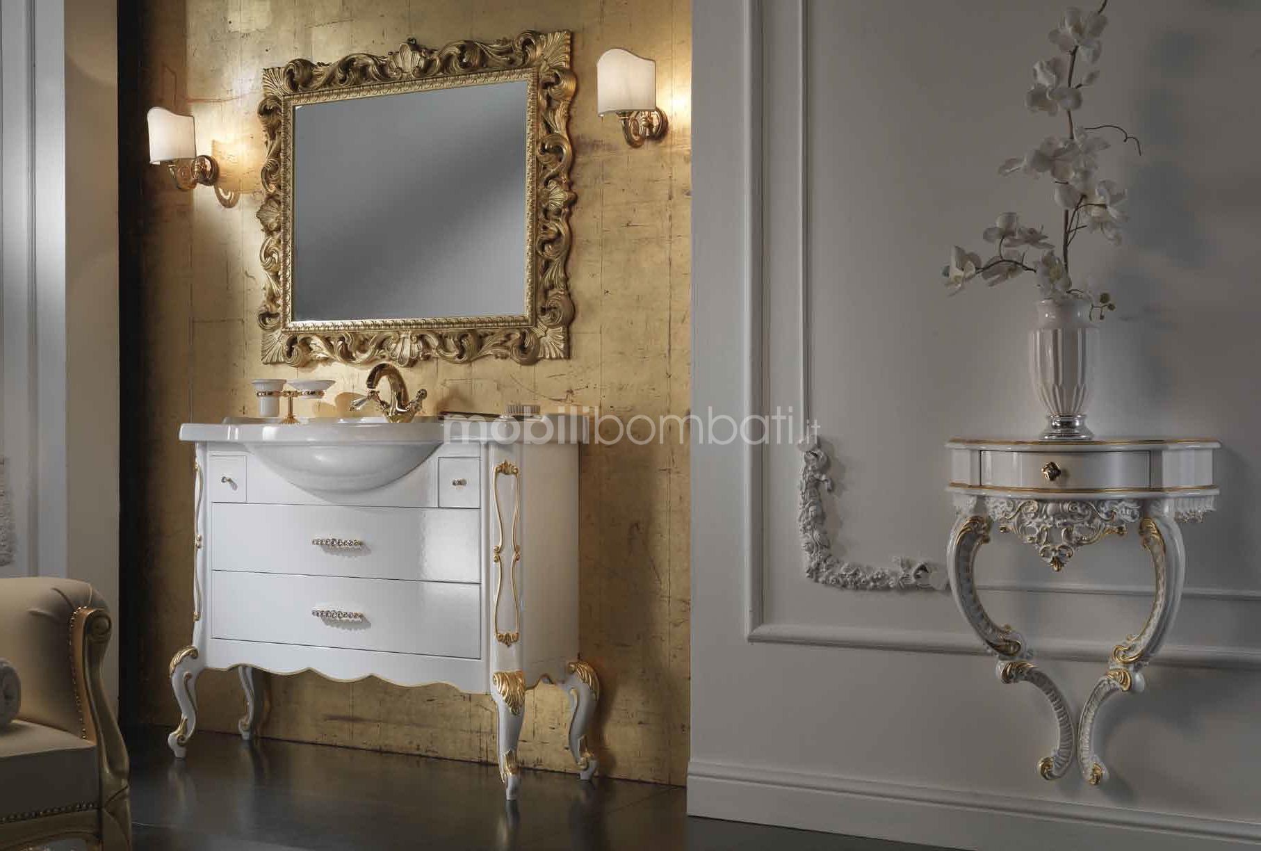 Mobile bagno veneziano con intagli solo su - Mobile bagno bombato barocco ...