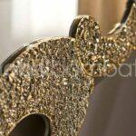 Specchiera Cristallo Fuso Oro