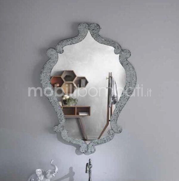 Specchiera Cristallo Fuso Argento