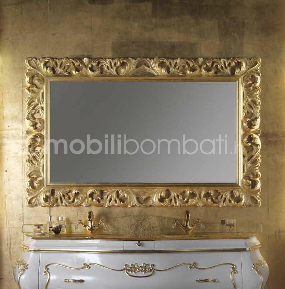 Specchio barocco in oro solo su - Specchio cornice nera barocca ...