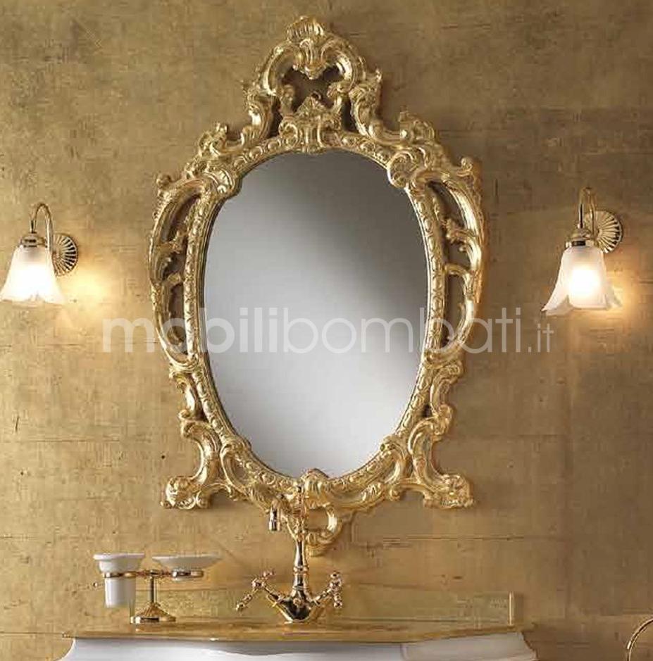 Barocco veneziano specchiera in foglia d 39 oro solo su for Specchiera barocca