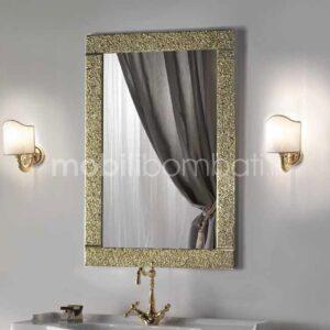 Specchio Cristallo Fuso Oro