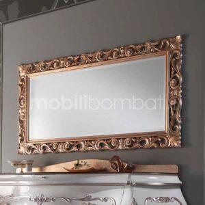 Specchio bagno in Oro Rosa