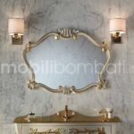 Specchio intagliato per Bagno