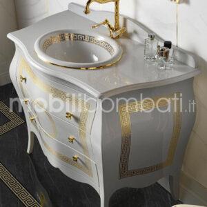 Mobile Bagno Barocco color Bianco