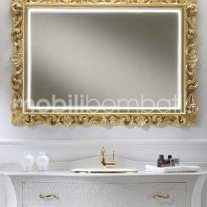 Specchio barocco led touch